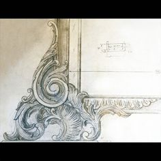 Drawing. Scale 1:1. Carved mirror. #art #drawing #artist #sketch #paper #pencil #gallery #creative #graphics #mirror