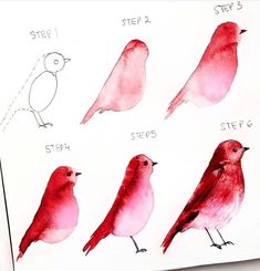 The Chronicles of Watercolor Birds Tutorial Watercolor Paintings For Beginners, Watercolour Tutorials, Watercolor Techniques, Painting Tutorials, Watercolor Portraits, Watercolor Bird, Simple Watercolor, Watercolor Landscape, Tattoo Watercolor