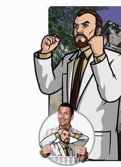 Archer:  Doctor Algernop Krieger (Lucky Yates) Archers Cast, Archer Show, Sterling Archer, Danger Zone, Bow Arrows, Caricatures, Archery, Art Images, Costume Ideas