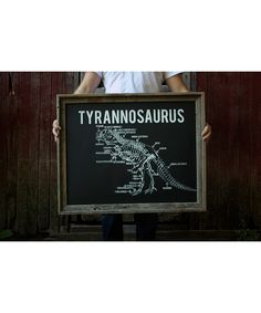 IScreenYouScreen Glow-in-the-Dark Tyrannosaurus Diagram | Decorating a nursery's walls? Look no further. This charming hand-pulled screen print captures both modern style and age-old whimsy to create darling design perfect for a little one's bedroom.