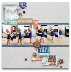 Your First Walk - Scrapbook.com - Made with Elle's Studio Shine Collection