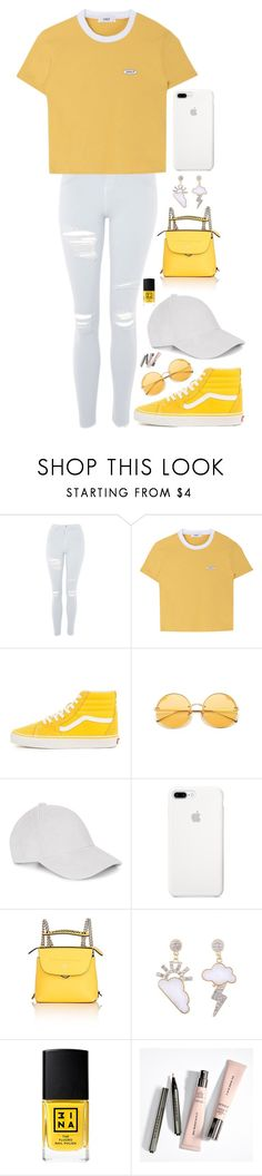 """""""Yellow"""" by dark-jewel ❤ liked on Polyvore featuring Topshop, Le Amonie, ETUÍ, Fendi and 3ina"""