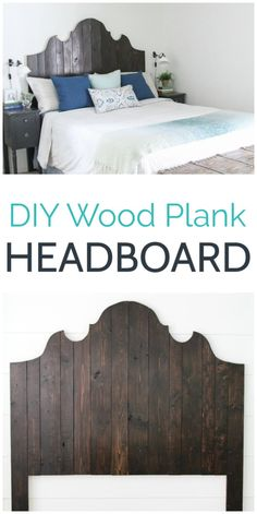 Who needs shiplap when you have a gorgeous wood plank headboard like this one! This DIY wood headboard is super easy to make using only a couple of basic tools and some inexpensive lumber Perfect for a farmhouse or eclectic style bedroom - DIY Craft Ideas Wood Headboard, Diy Headboards, Diy Furniture Plans, Furniture Makeover, Inexpensive Furniture, Recycled Furniture, Industrial Furniture, Diy Home Decor For Apartments, How To Make Headboard