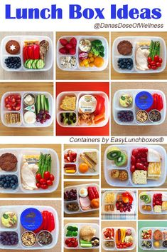 Loads of healthy lunch ideas for work or school, packed in /easylunchboxes/