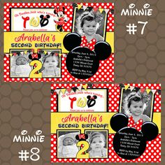 Red & Yellow Polka Dot Minnie Mouse Birthday Party by KDesigns2006 Birthday Surprise Boyfriend, Mum Birthday Gift, Birthday Party For Teens, Birthday Party Games, Cool Birthday Cakes, Birthday Wishes, Minnie Mouse Birthday Invitations, Kids Party Games, Printable