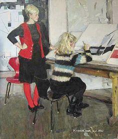 Суздалева Нина Владимировна (1939- 1988) «Двойная женская постановка» 1966