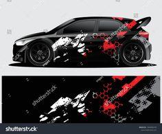 Imagens, fotos stock e vetores similares de Rally car decal graphic wrap vector, abstract background - 1412104397 Car Stickers, Car Decals, Vinyl Decals, Vw Lupo Gti, Racing Car Design, Drift Trike, Car Hd, Lamborghini Cars, Car Tuning