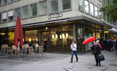 Yooji's is one of my favorite sushi restaurants in Zürich. I stopped by the latest flagship restaurant at Zürich's Bahnhofstrasse to give you the low-down. Sushi Restaurants, Switzerland, Cities, Street View, Products, City, Gadget