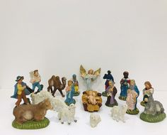 Vintage Nativity scene set, Vintage religious Christmas decorations by Seekandchic on Etsy Festival Decorations, Christmas Decorations, Nativity Scene Sets, Vintage Italian, Vintage Decor, Vintage Christmas, Hand Painted, Painting, Etsy