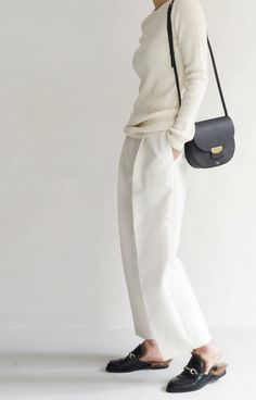Gucci Loafers | Wide Leg Trouser | All Whites | Classic and Minimal | Style | Harper and Harley
