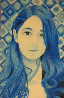 Students in middle school created these self-portraits in the style of American artist Chuck Close. We began by working from a ...