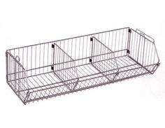 """36""""W x 14""""D x 9"""" H wire bin with two dividers"""