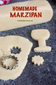 If you haven't tried making your own marzipan yet, you're missing a lot! Give this easy homemade marzipan recipe a try – and don't worry, no eggs on this recipe! Marzipan Cookies Recipe, Homemade Marzipan Recipe, Marzipan Cake, Sicilian Recipes, Swedish Recipes, Sweet Recipes, Sicilian Food, Swedish Foods, German Desserts