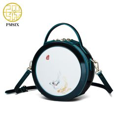 699501d807946 Pmsix 2017 New Circular Women Leather Bags Cattle Split Leather Ladies  Retro Shoulder Bag Crossbody Bag Vintage Tote Bag P220014-in Shoulder Bags  from ...