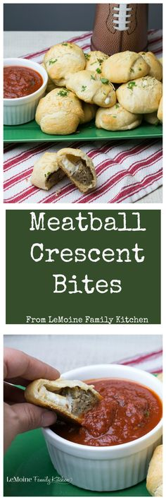 Meatball Crescent Bites. This easy appetizer is PERFECT for any get together. Meatball and fresh mozzarella wrapped in a buttery crescent sprinkled with garlic powder and pecorino cheese then baked to golden perfection. Serve with your favorite sauce for dipping. #BJsSmartSaver {ad} @bjswholesale