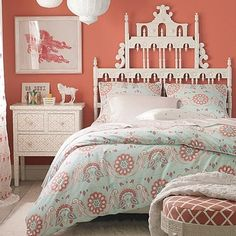 Headboard idea!  Modern Bedroom Idea : The Degradation in Color and Style:Shabby Chic Modern Bedroom Ideas Light Coral Modern Bedroom Ideas