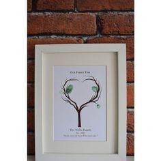 Personalised Prints: Family Fingerprint Tree