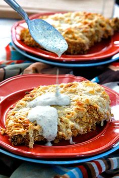 Smothered Nacho Chicken with Tomatillo Avocado Ranch Dressing | http://www.carlsbadcravings.com/smothered-nacho-chicken-tomatillo-avocado-ranch/