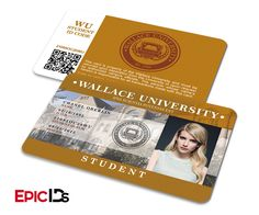 """Scream Queens Inspired """"Chanel Oberlin"""" Wallace University Student ID"""