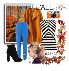 """""""~Orange~"""" by bubblegum59 ❤ liked on Polyvore featuring Hermès, Karen Millen, Basler and Nearly Natural"""