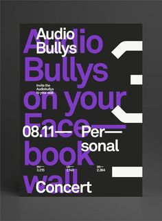 Creative Typography, Audio, Bullys, Layout, and Poster image ideas & inspiration on Designspiration Typo Poster, Typographic Poster, Poster Layout, Graphic Design Posters, Graphic Design Typography, Graphic Design Inspiration, Typography Layout, Lettering, Plakat Design
