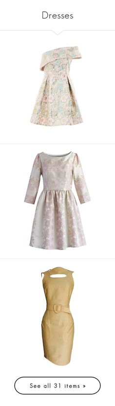 """Dresses"" by ragnh-mjos ❤ liked on Polyvore featuring dress, Antonelli, Halston Heritage, Mansur Gavriel, Billabong, Nak Armstrong, dresses, multi, pink metallic dress and pink dress"
