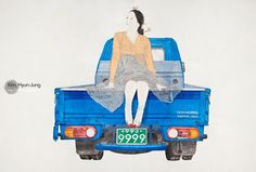 [source]     I was introduced to Kim Hyun Jung's work today and I am a fan of her latest quirky illustrationswhich ...