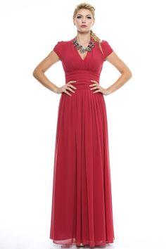 Rochie lunga eveniment cu pliuri. Prom Dresses, Formal Dresses, Red, Fashion, Dresses For Formal, Moda, Formal Gowns, Fashion Styles, Formal Dress