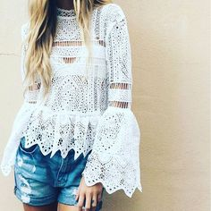 Add a bit more to your summer lace with statement sleeves #AsSeenOnMe