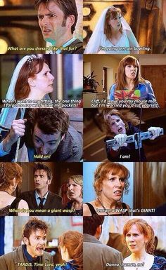 The doctor and Donna have such colorful dialogue.