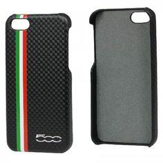 Fiat Back Case Carbon Black voor Apple iPhone 5S / 5