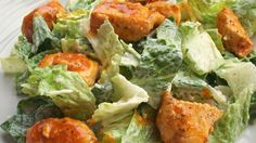 If you like Buffalo Chicken Wings, you'll love this take on it.      Ingredients  1/4 cup crumbled blue cheese  1/2 cup Ranch-style salad dressing  3 large skinless, boneless chicken breast halves - cut into 1 inch cubes  salt and pepper  1 tablespoon vegetable oil