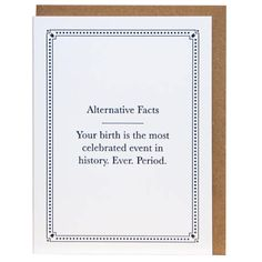 If they're not a fan of Donald Trump, well, this might be the perfect card for them. This hilarious birthday card states the facts—that your friend's birthday is the most important event ever. #birthdaycards #funnycards Funny Cards For Friends, Birthday Cards For Him, Cards For Boyfriend, Funny Greeting Cards, Friend Birthday, Puns, Donald Trump, Hilarious, Facts