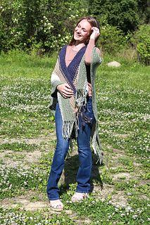 Crochet Shawls And Wraps, Crochet Poncho, Crochet Hooks, Easy Beginner Crochet Patterns, Crochet For Beginners, Kimono Top, Tops, Women, Fashion