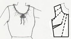 Como hacer un escote redondo fruncido - vilma barbosa - Sewing Shirts, Sewing Clothes, Diy Clothes, Sewing Hacks, Sewing Tutorials, Sewing Ideas, Modelista, Make Your Own Clothes, Easy Sewing Patterns