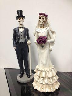 Day of the Dead wedding or Halloween wedding