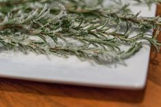 Sugared Rosemary. The perfect Christmas cocktail garnish