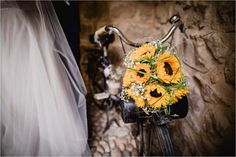 A sunflower bouquet for a Chateau de Brametourte wedding by Wild Connections Photography Sunflower Bouquets, French Wedding, Brides And Bridesmaids, Wedding Bouquets, Destination Wedding, Anna, Wedding Inspiration, Bridal, Photography