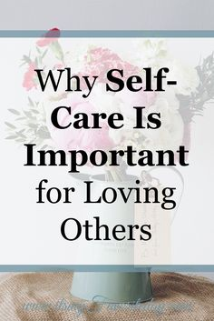 This is so true, I am often guilty of neglecting my needs for the sake of someone else. I love how she shows that self-care is important and the more we learn to love ourselves the better we are at loving others. Repin if you don't have time to read now!
