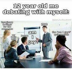 Lesbian Humor, Stupid Funny Memes, Funny Relatable Memes, Tumblr Boy, Lgbt Memes, Funny Videos, Really Funny, Haha, Lgbt Pride Quotes
