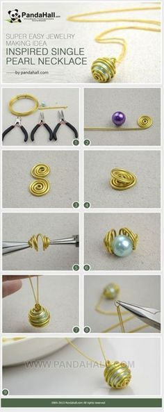 How to Make Inspired Single Pearl Necklace