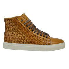 Calzoleria Toscana 9685 Cognac Woven Sneaker