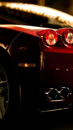 Ferrari Rear Lights View #iPhone #5s #wallpaper