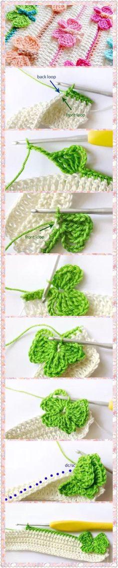 Crochet butterfly blanket 1