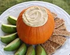 I know people are probably over pumpkin recipies, but this pumpkin pie dip looks so good!