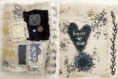vintage inspired pins & needles handstitched booklet | Flickr - Photo Sharing!