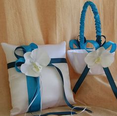 Turquoise and Teal / Oasis Wedding Colors Flower by All4Brides.