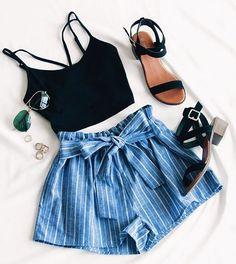 Festive Ready Stripe Shorts