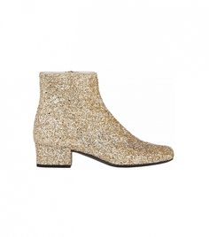 All that glitters really is gold // Saint Laurent Glitter Ankle Boots