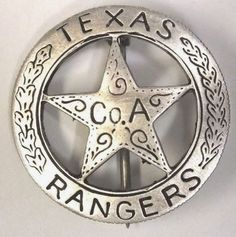 The search for a r e a l Texas Ranger badge is the collecting version of the Agony and the Ecstasy. and mostly agony . Texas Rangers Law Enforcement, Law Enforcement Badges, Sheriff Badge, Police Badges, Armadura Ninja, Tx Rangers, Old West Outlaws, Texas Texans, Money Notes